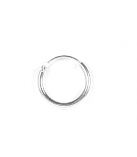 Aro Plata Liso 14 X 2mm Precio Par