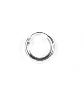 Aro Plata Liso 14 X 3mm Precio Par