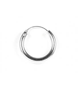 Aro Plata Liso 16 X 3mm Precio Par
