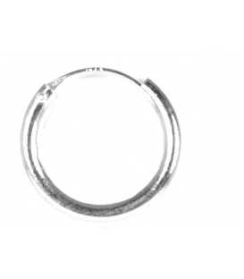 Aro Plata Liso 18 X 3mm Precio Par