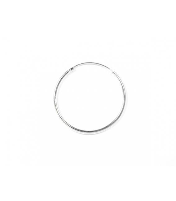 Aro Plata Liso 25 X 1.5mm Precio Par