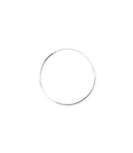 Aro Plata Liso 30 X 1.2mm Precio Par