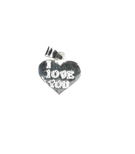 Colgante Corazon I Love You 1,30cm