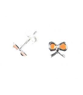 Boucles d'oreilles Ruban Orange