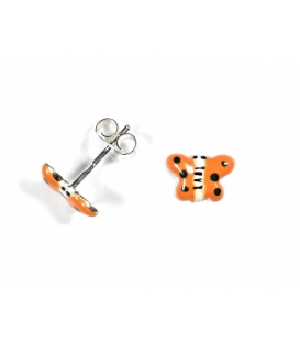 Boucles d'oreilles Papillon Orange