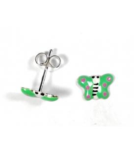 Pendiente Mariposa Verde