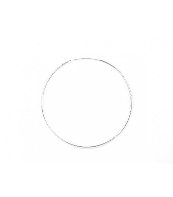 Aro Plata Liso 60 X 1.2mm Precio Par