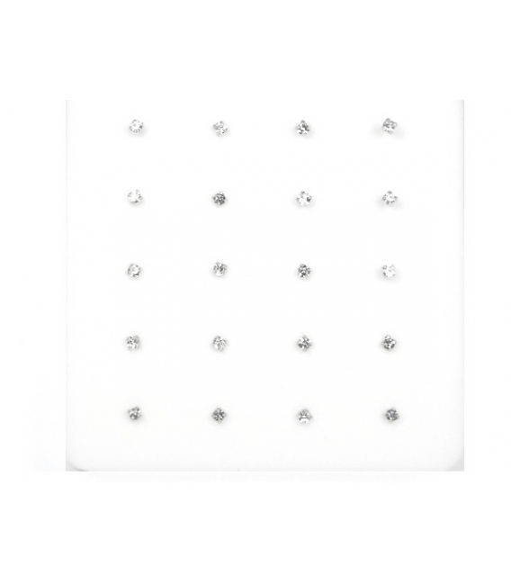 Nariz Barra Brillante 1.2mm Engarzado Blanco