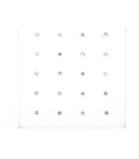 Nariz Plata Barra Brillante 1.2mm Engarzado Blanco