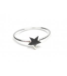 Anillo Plata Midi Estrella