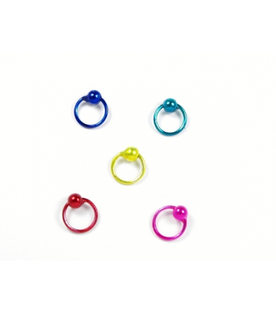 Aro Plata Piercing 7 X 1mm Color Precio Par