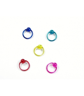 Aro Piercing 7 X 1mm Color Precio Par