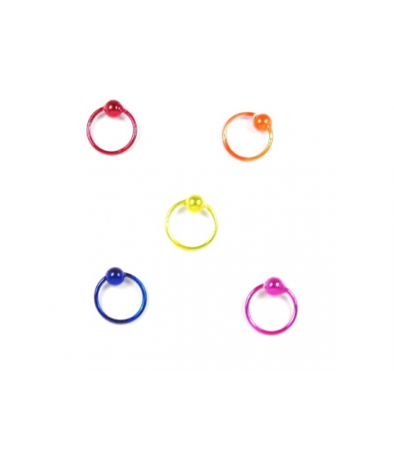 Aro Piercing 8 X 1mm Color Precio Par
