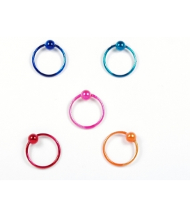 Aro Piercing 10 X 1mm Color Precio Par