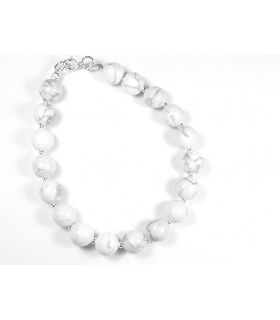 Bracelet Blanc 8mm