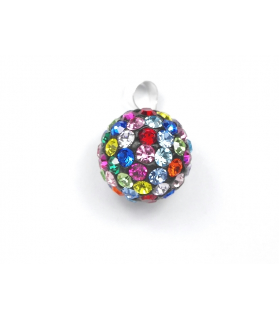 Colgante Strass 12mm Color