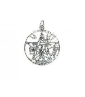 Colgante Plata Tetragramaton 2,80cm