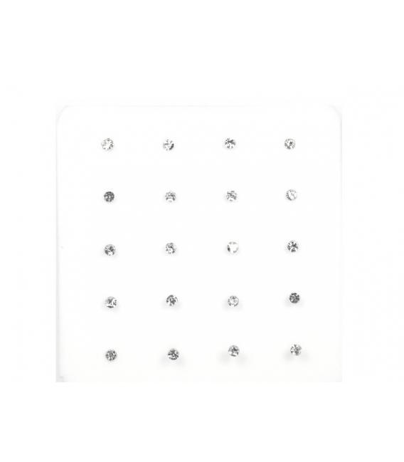 Nariz Bola Brillante 1.5mm Blanco
