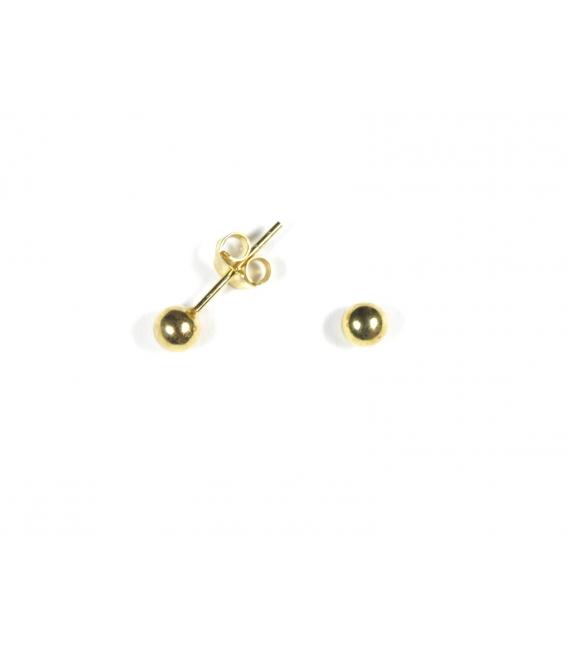 Boucles d'oreilles Boule 4mm Recouverte