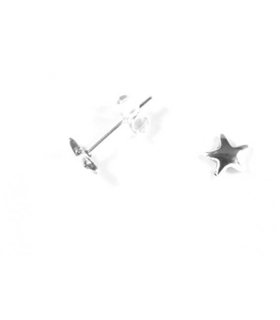 Pendiente Plata Estrella