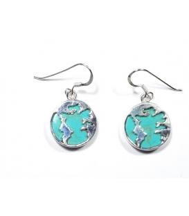Boucles d'oreilles Monde Turquoise