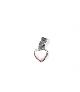Colgante Corazon Rosa 8mm