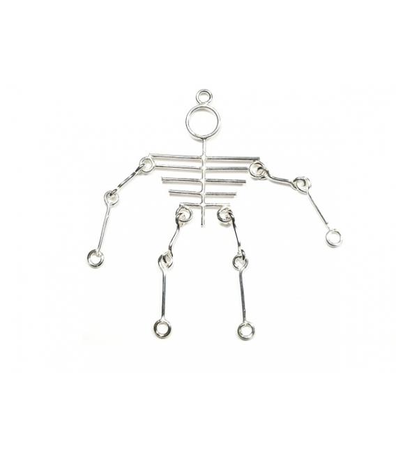 Colgante Plata Esqueleto 6,00cm