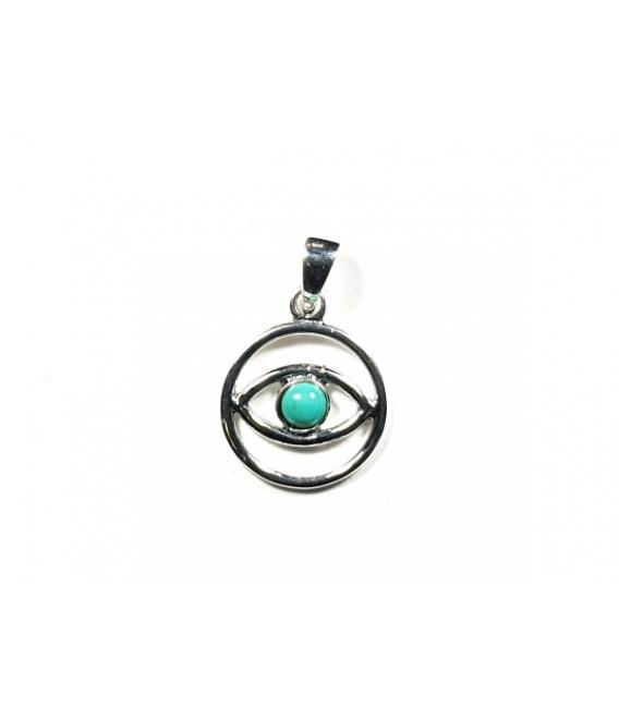 Pendentif Oeil Turquoise 1,30cm