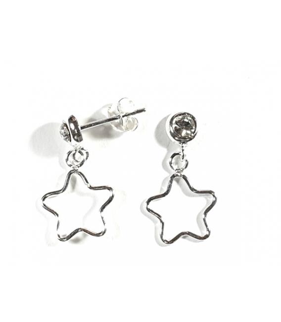 Pendiente Estrella Circonita