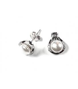 Pendiente Plata Perla 423 Rodiada