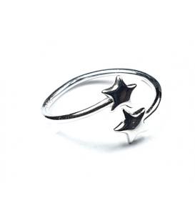 Anillo Plata Dos Estrella 539