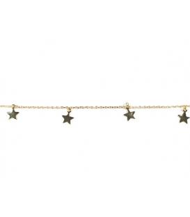 Pulsera Plata Estrella 16+3cm Bañada