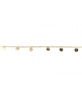 Bracelet 8 Plaques 15,5+3cm Recouvertée