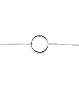 Pulsera Plata Circulo 15,5+3cm