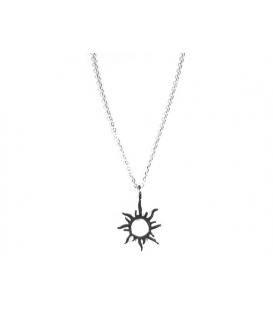 Gargantilla Plata Sol 40+3cm