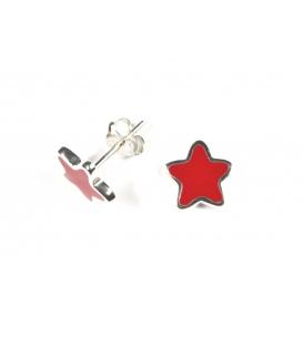 Boucles d'oreilles Étoile Rouge