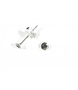 Pendiente Plata Brillante 3mm