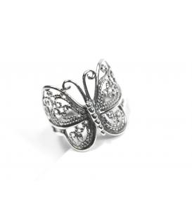 Anillo Plata Mariposa