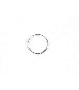 Aro Plata Liso 10 X 1.2mm Precio Par