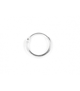 Aro Plata Liso 12 X 1.5mm Precio Par