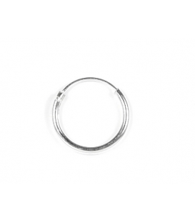 Aro Plata Liso 14 X 1.5mm Precio Par
